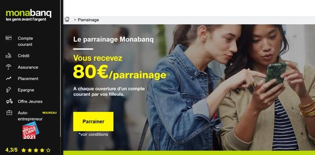 parrainage Monabanq avis