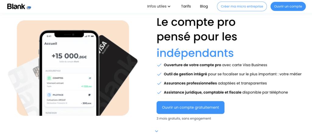 Avis Blank : offre micro-entreprise