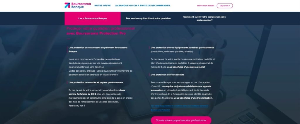 Avis assurance pro Boursorama