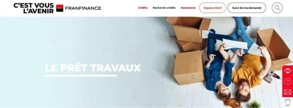 Avis Franfinance : crédit travaux