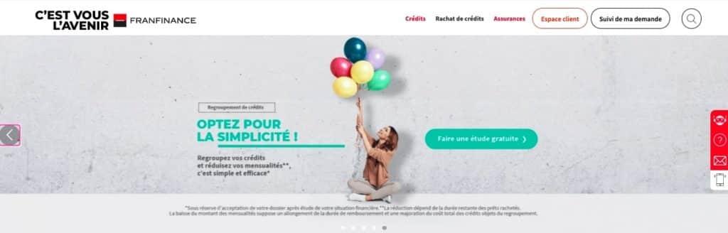 Avis Franfinance : rachat de crédit