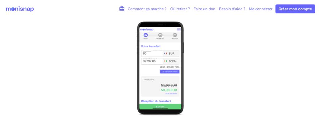 Avis Monisnap : appli mobile