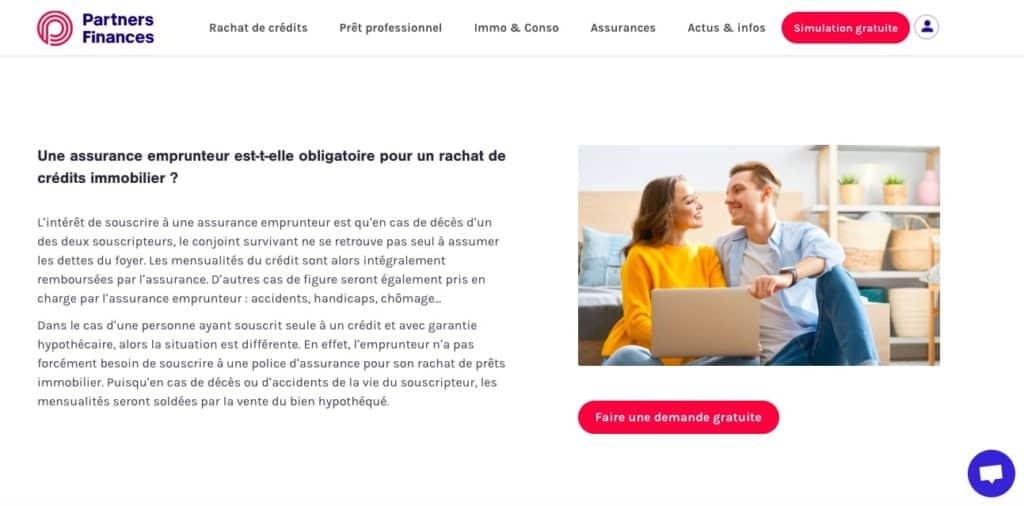 Avis Partners Finances assurance emprunteur