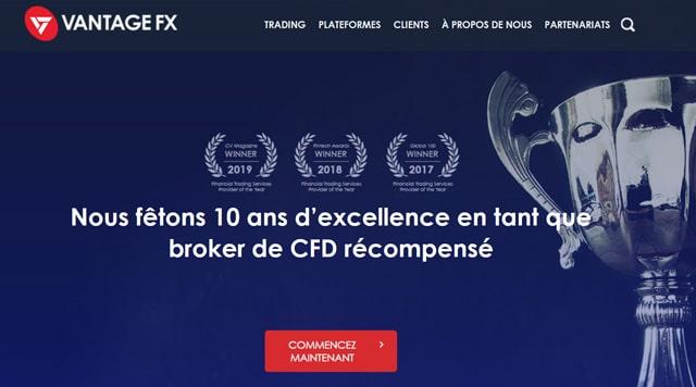 Vantage FX avis régulation