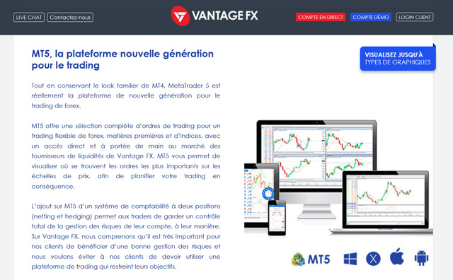 Vantage FX avis plateforme trading