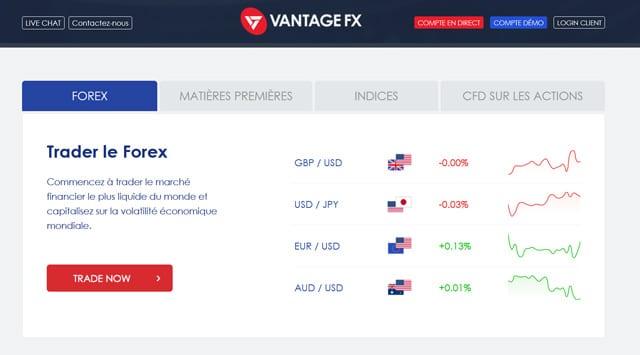 Vantage FX avis offre