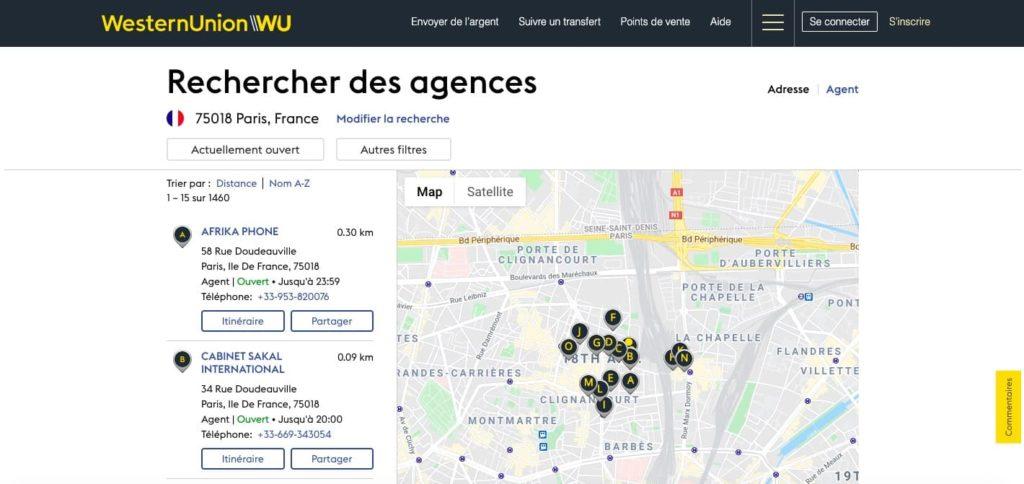 Avis Western Union : couverture géographique