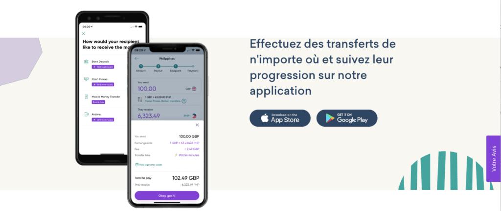 Avis WorldRemit : appli mobile