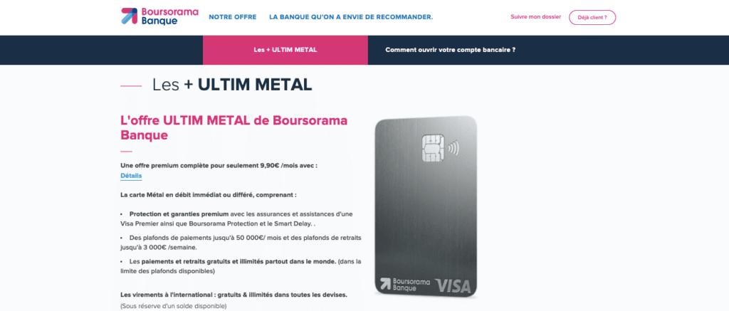 Avis Carte Metal Ultim : les plafonds