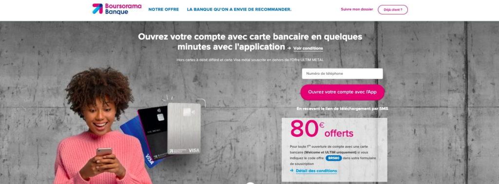 Avis carte Welcome Boursorama Banque avantages