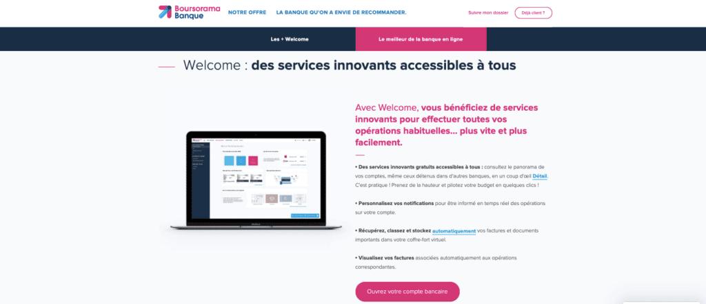 Avis carte Boursorama Welcome : la technologie