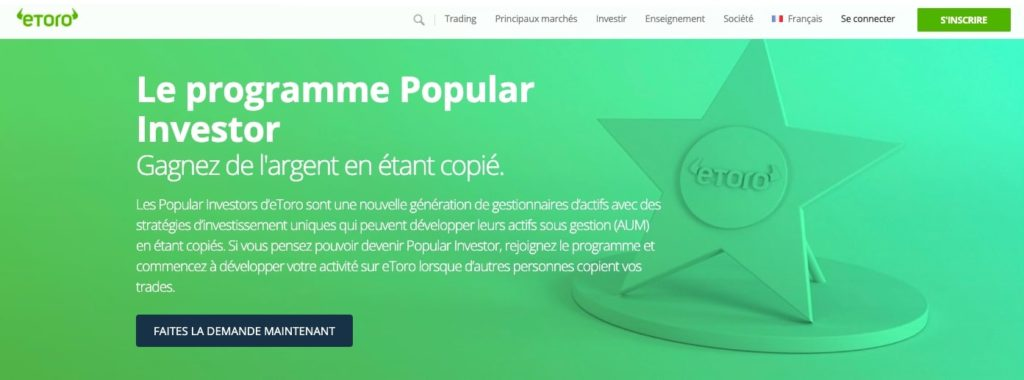 promotion eToro programme Popular Investor