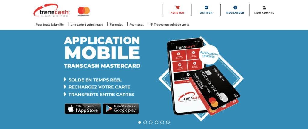 Avis Transcash : appli mobile