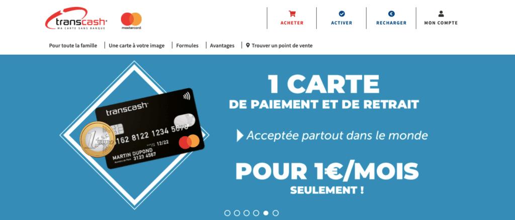 Classement carte bancaire anonyme prépayée