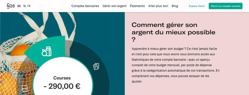Avis N26 smart appli mobile gestion de budget