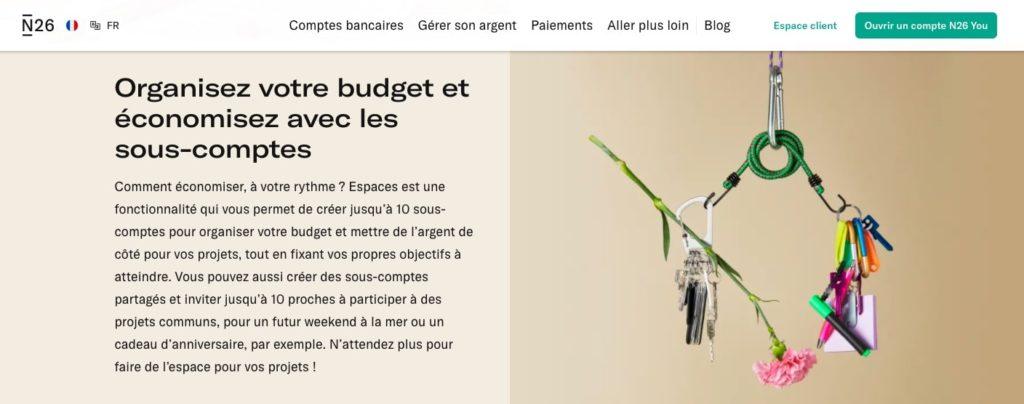 Quel avis n26 You sur la gestion de budget ?