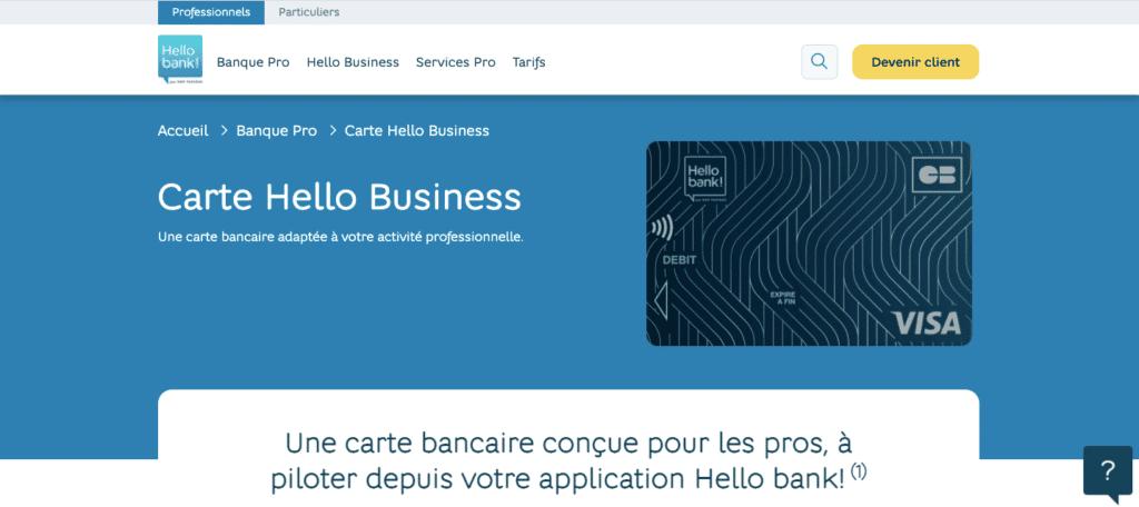 Quel avis Hello Bank Pro sur les moyens de paiement ?