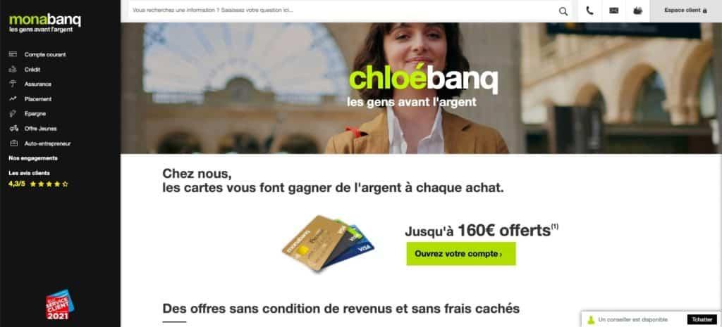 Monabanq, la banque en ligne avec découvert