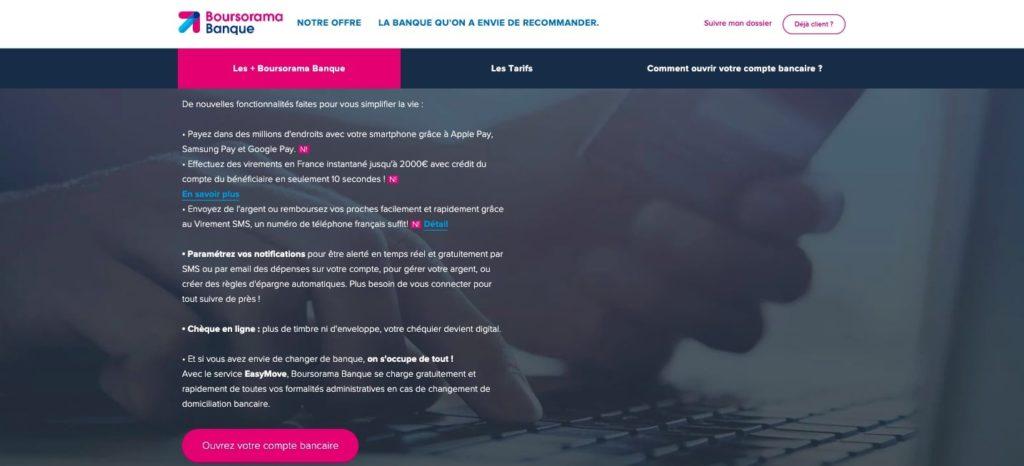 Banque en ligne avec découvert autorisé et dépôt de chèque
