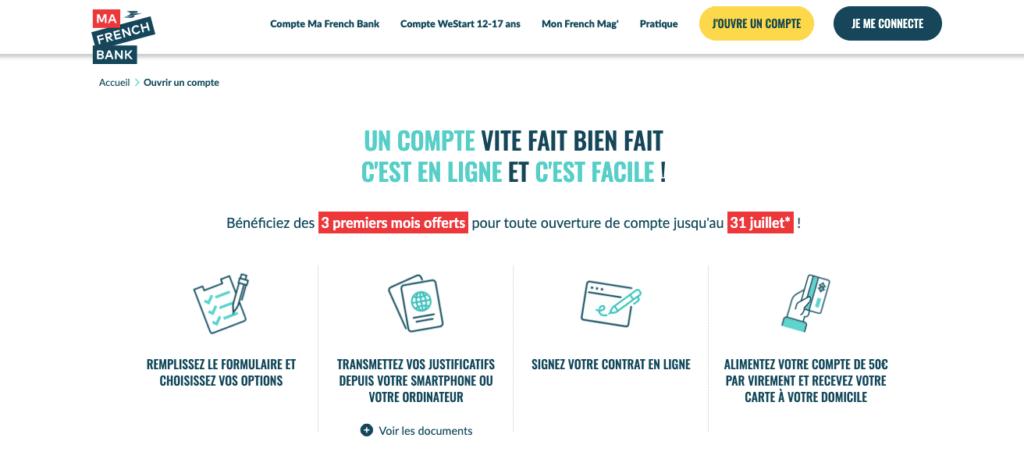Offre de bienvenue Ma French Bank
