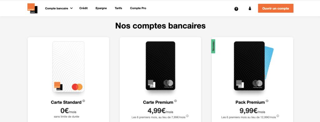 Banque en ligne avec découvert Orange Bank