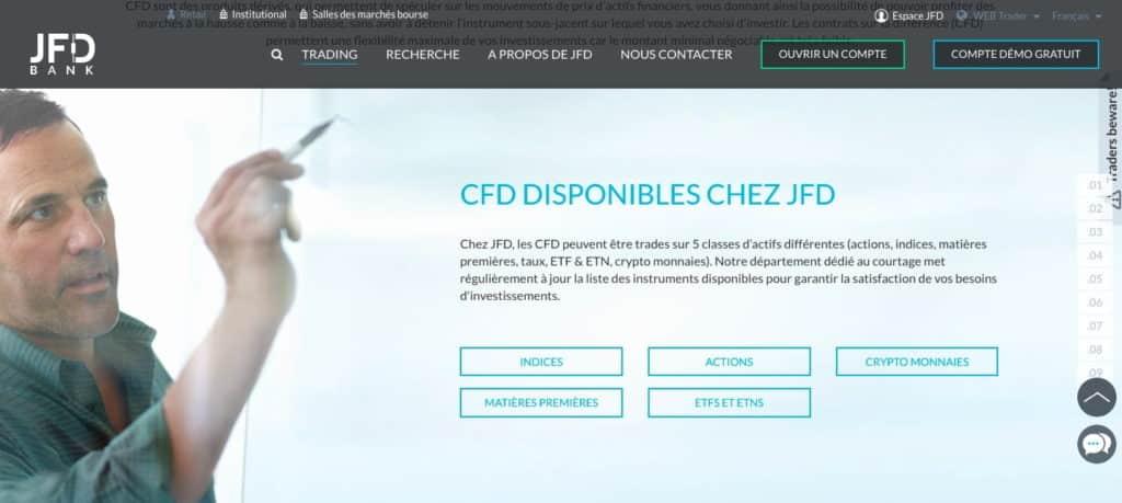 Quel avis CFD sur les instruments ?