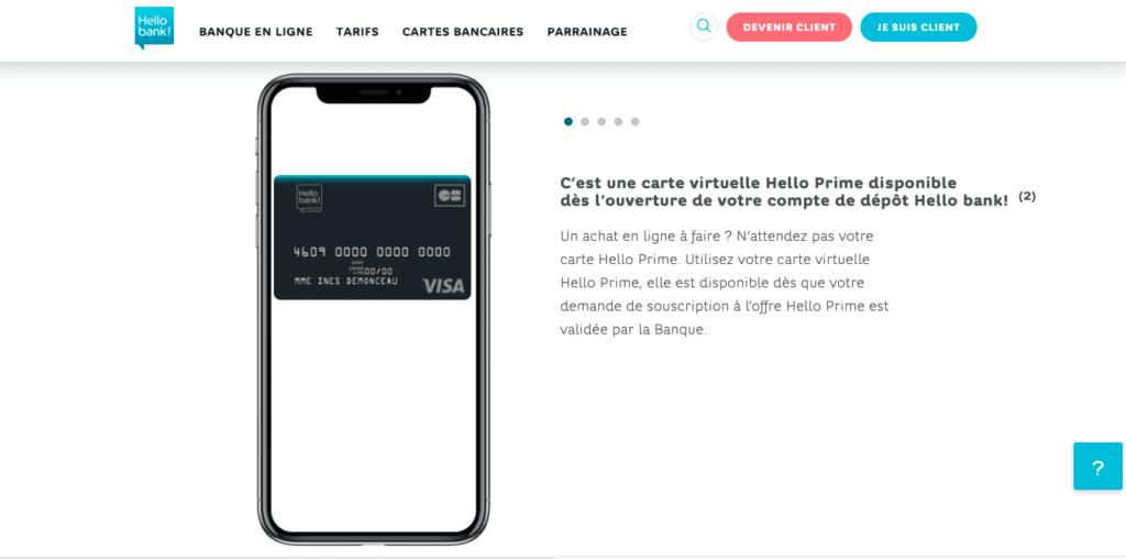 Hello Prime vs Hello One carte bancaire