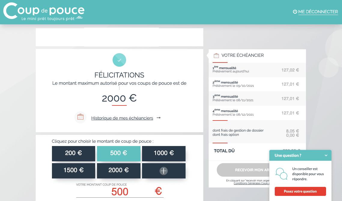 Mini credit sans justificatif