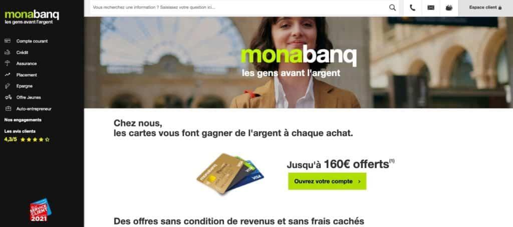 Carte bancaire cashback Monabanq