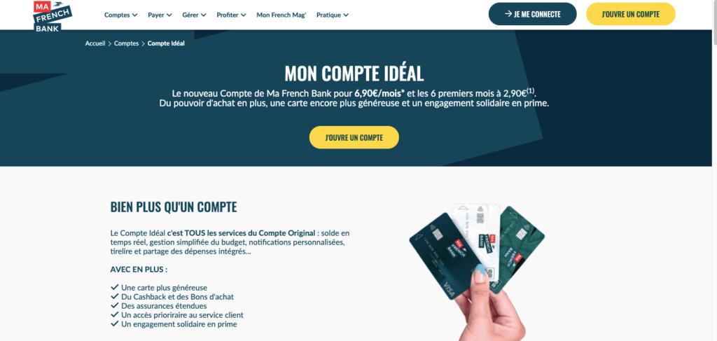 Avis Ma French Bank Compte Idéal