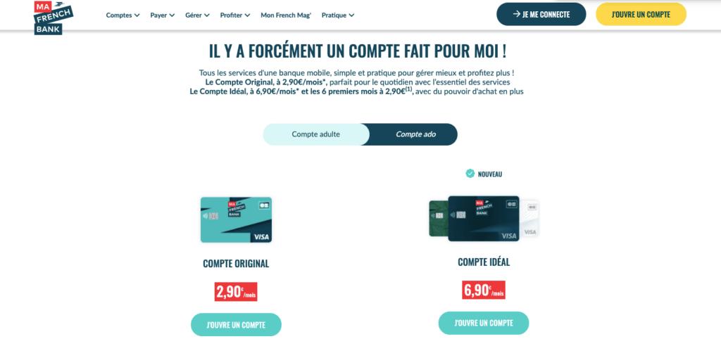 Avis Ma French Bank tarifs
