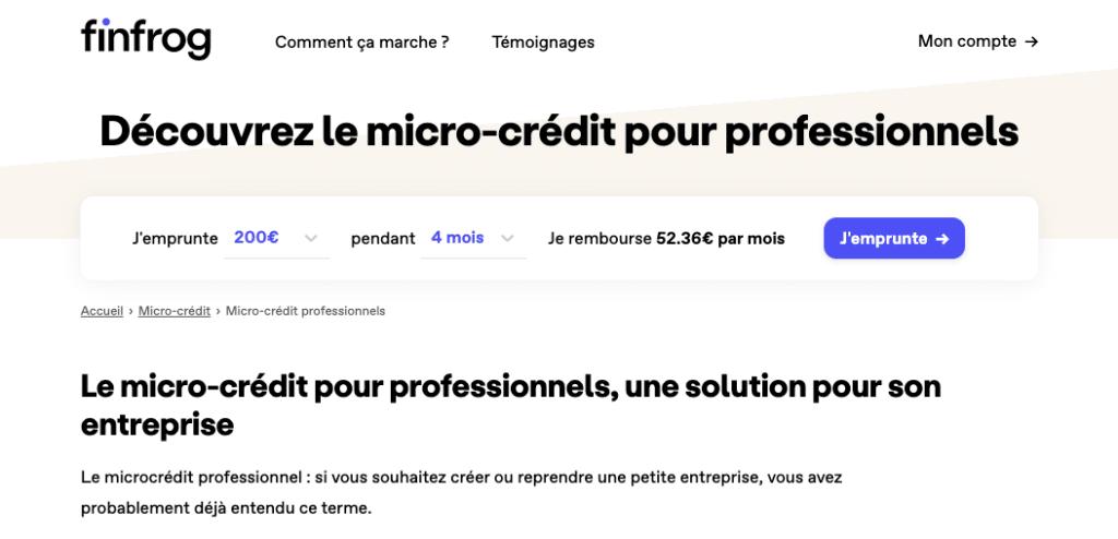 Mini crédit pro